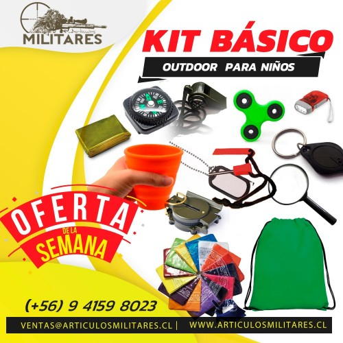 KIT BASICO OUTDOOR PARA NIÑOS