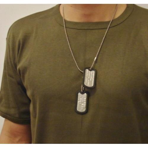 31930f467998 Placas de identificación militar Grabado Americano En Relieve