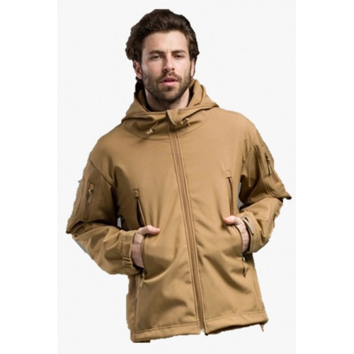 Chaqueta Soft Shell Coyote, Militar ,Outdoor